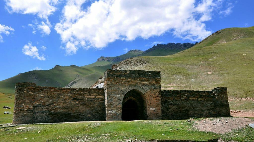 Gateway to Caravanserai, Tash Rabat, Kyrgyzstan
