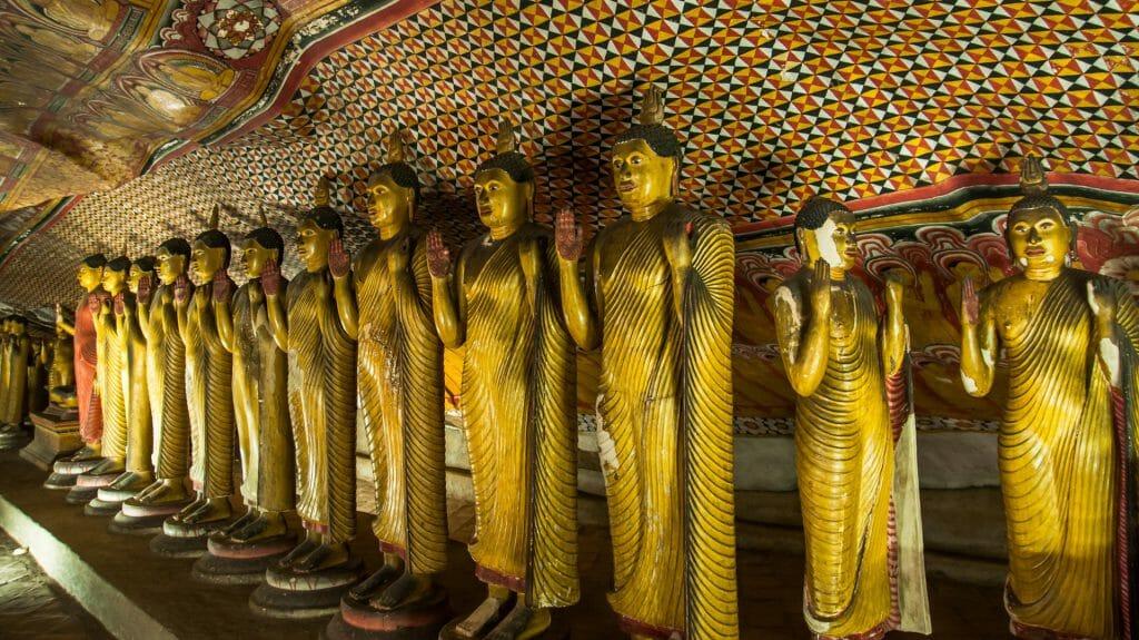 Golden Buddha Statues, Dambulla, Sri Lanka
