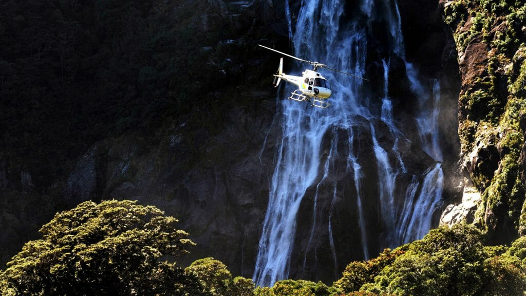 Helicopter Flight, Fiordlands, New Zealand