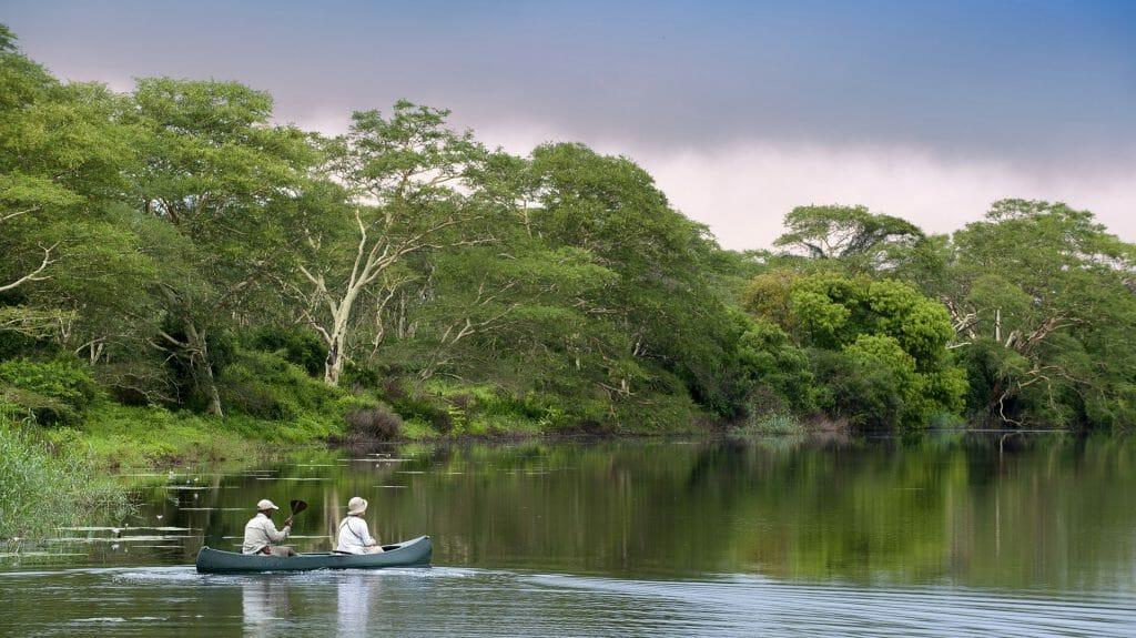 kayaking on Mzeneni river, Phinda activities, Kwa Zulu Natal, South Africa
