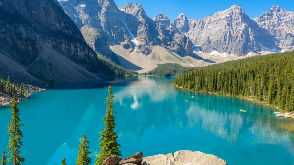 Turquoise water of Lake Louise