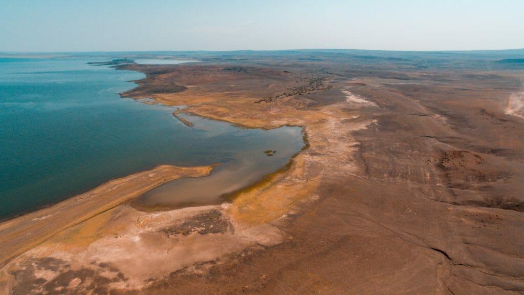 Lake Turkana from above, Kenya