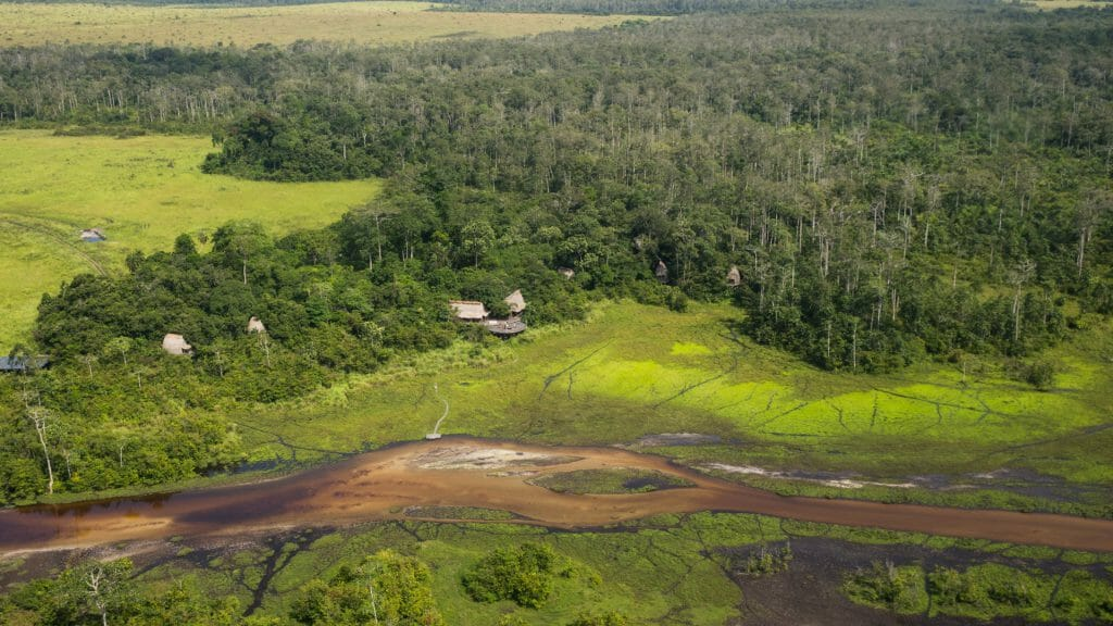 Lango Camp Aerial, Odzala, Rep of Congo