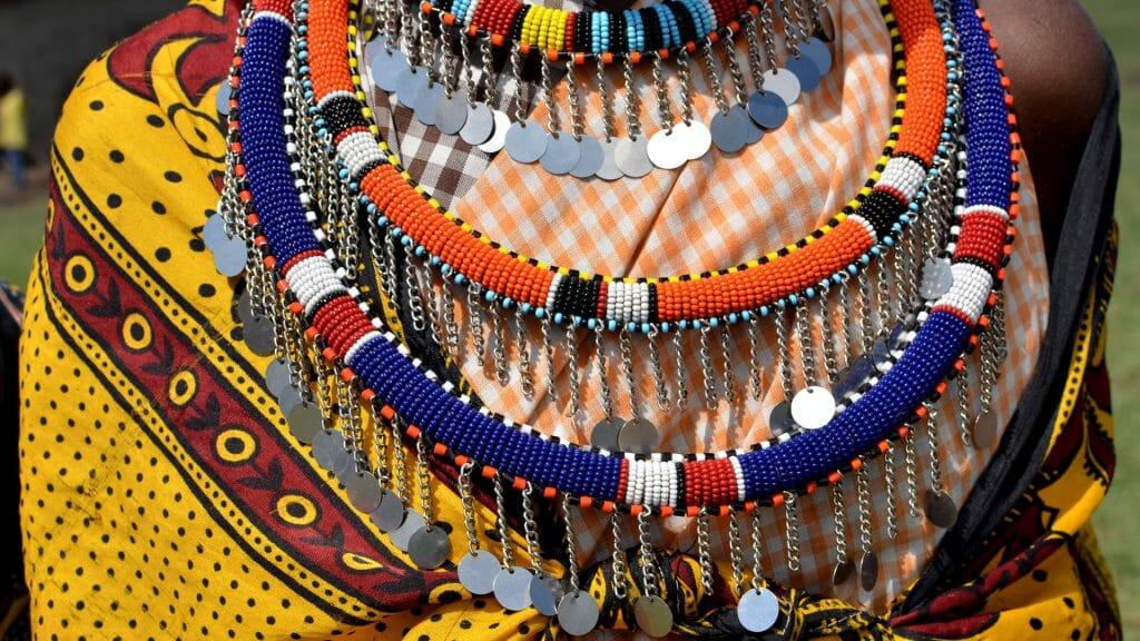 Masai decoration, Masai Mara, Kenya