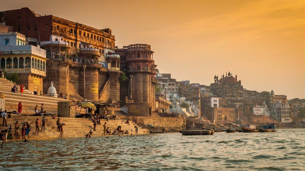 Morning on the Ghats, Varanasi, India