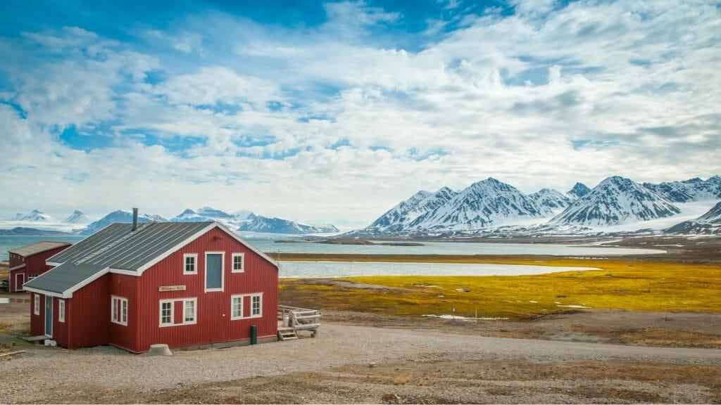 Village of Ny Alesund, Spitsbergen, Arctic