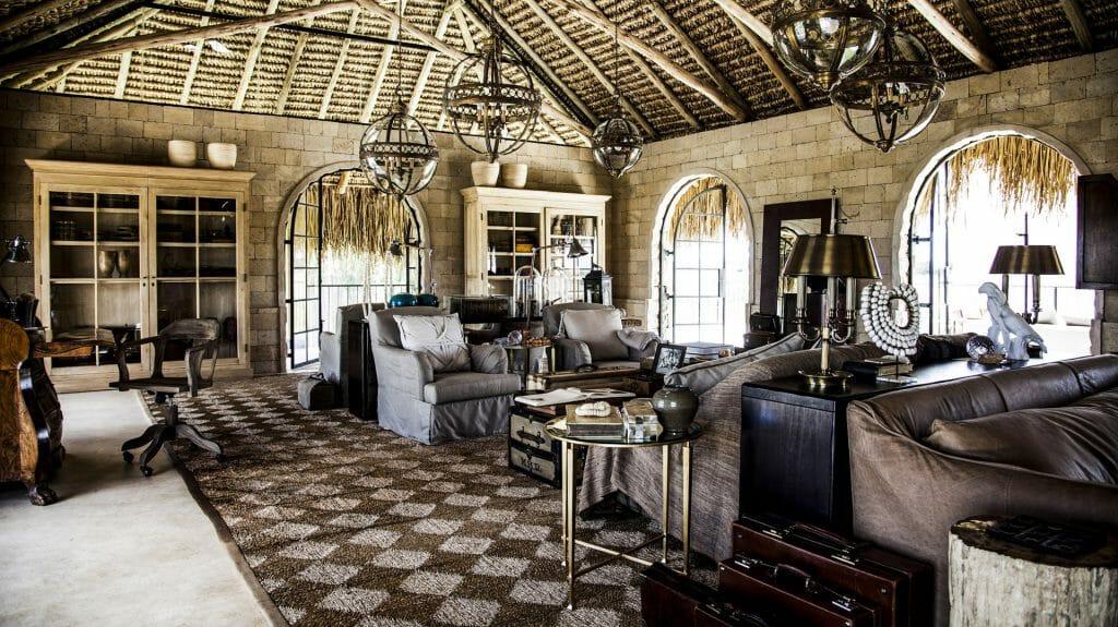 Paddock House Lounge, Segera Retreat, Laikipia, Kenya