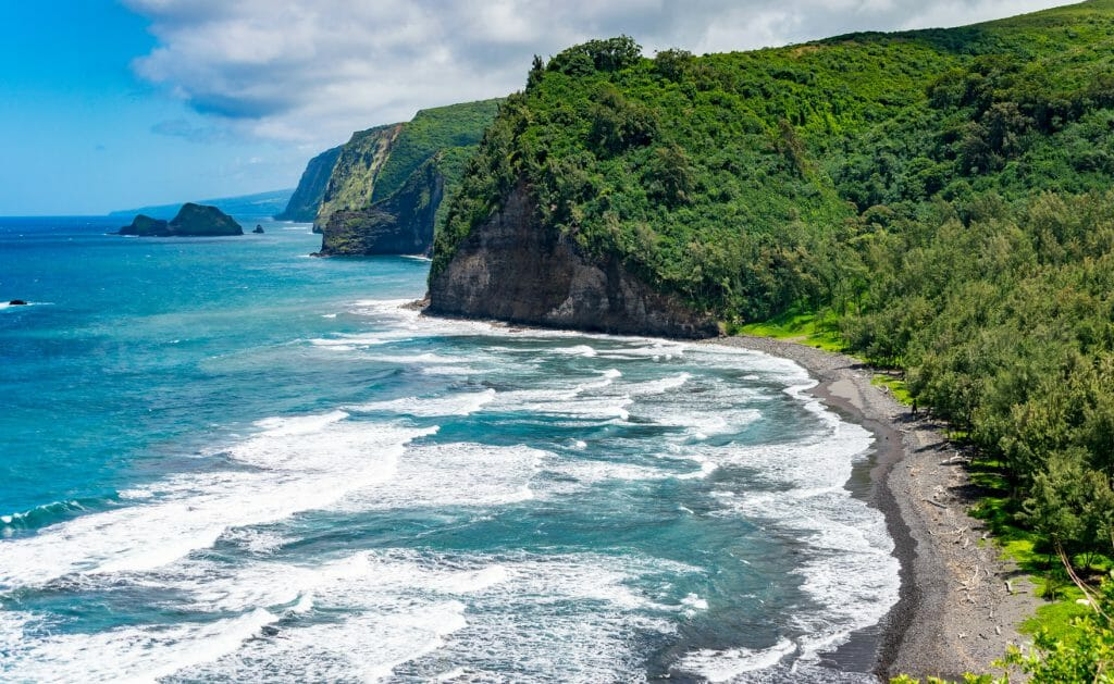Polulu Beach, Big Island, Hawaii, USA