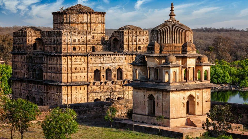 Royal cenotaphs of Orchha, Orchha, Madhya Pradesh, India