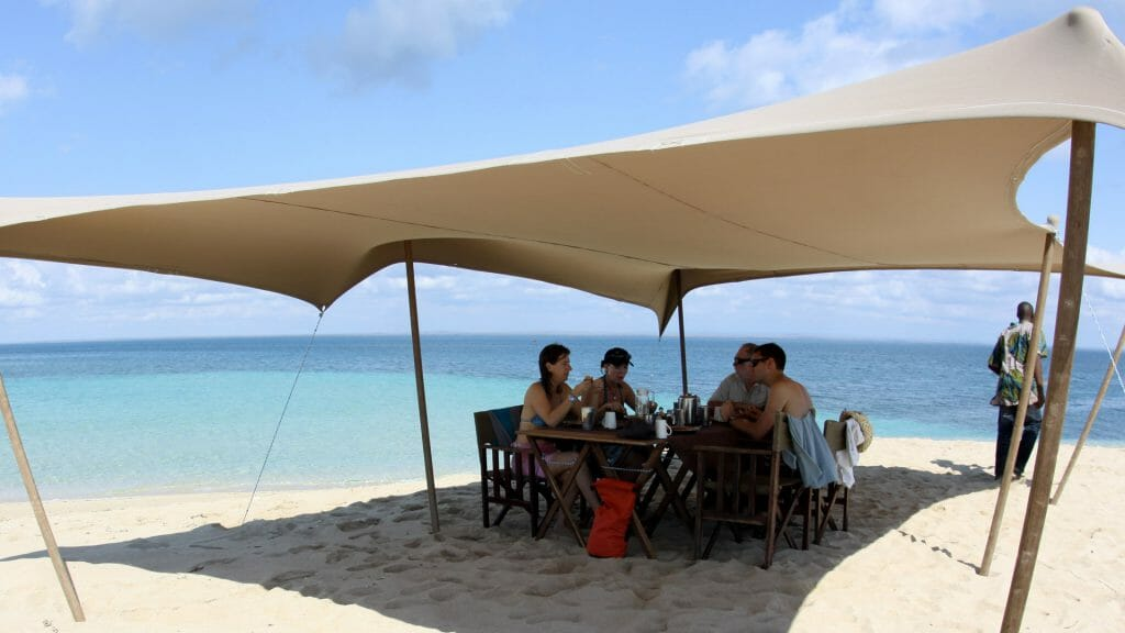 Sandbank brunch, Ibo Island, Mozambique