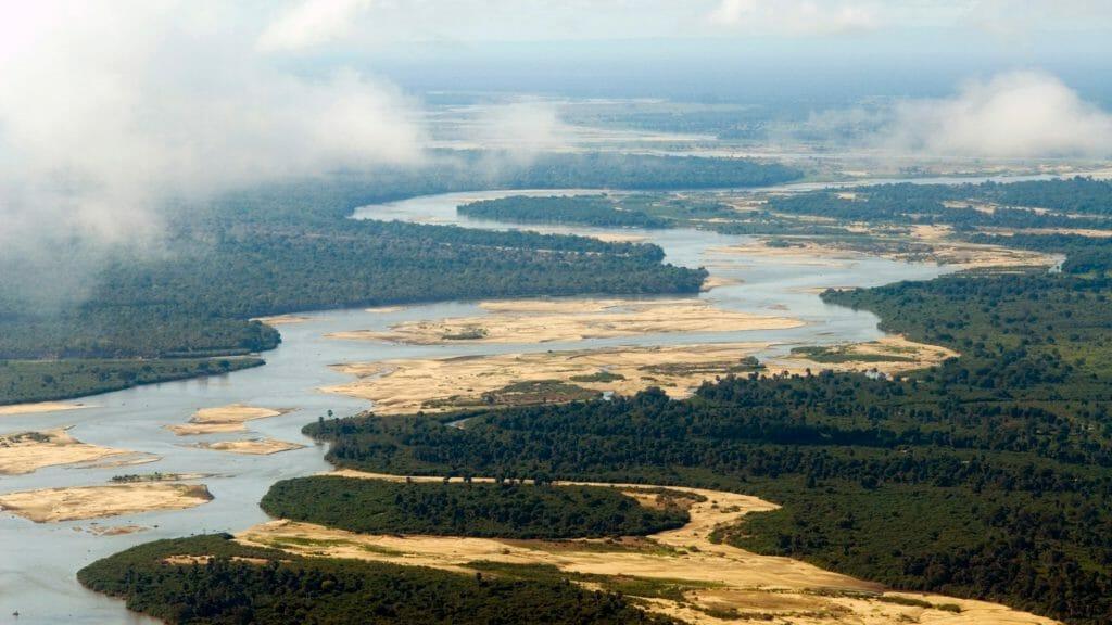 Selous aerial shot, Selous Game Reserve, Tanzania