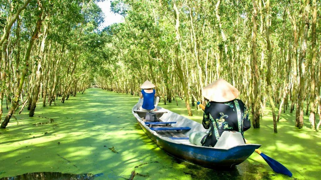 Small Boat on the Mekong, Mekong Delta, Vietnam