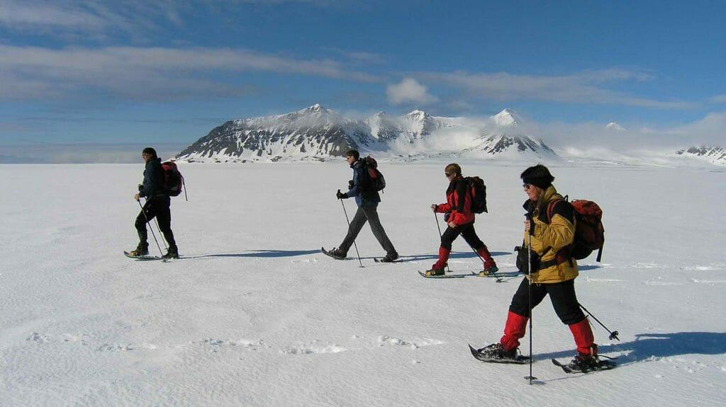 Snowshoeing, Basecamp OW, Antarctic Peninsula, Antarctica