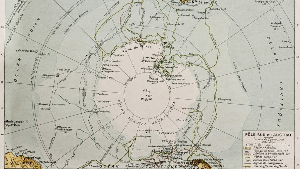 Map of the South Pole