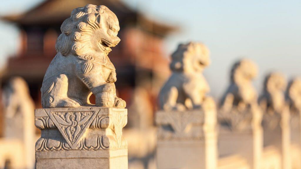 Stone Lion Sculptures, Beijing, China