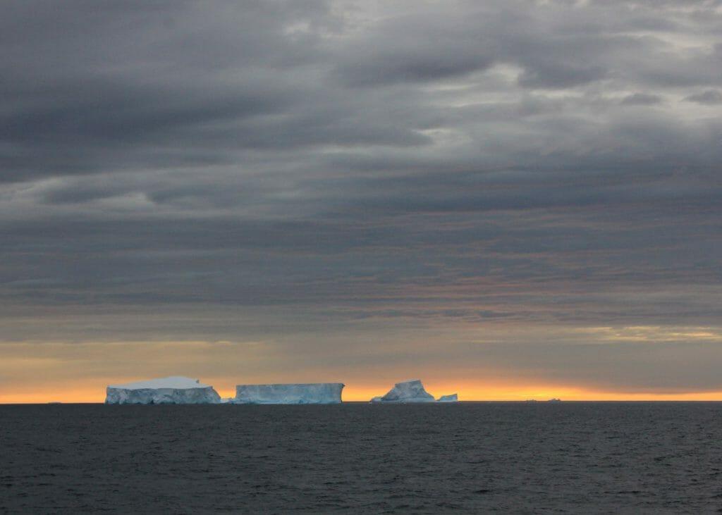 Sunset & icebergs, Antarctica