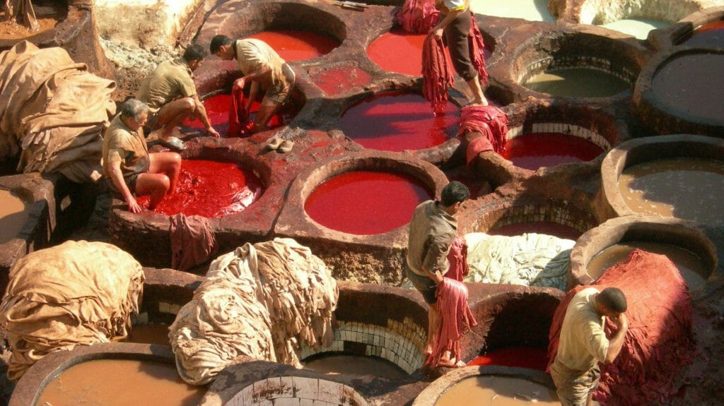 Tanneries, Fez, Morocco, KB