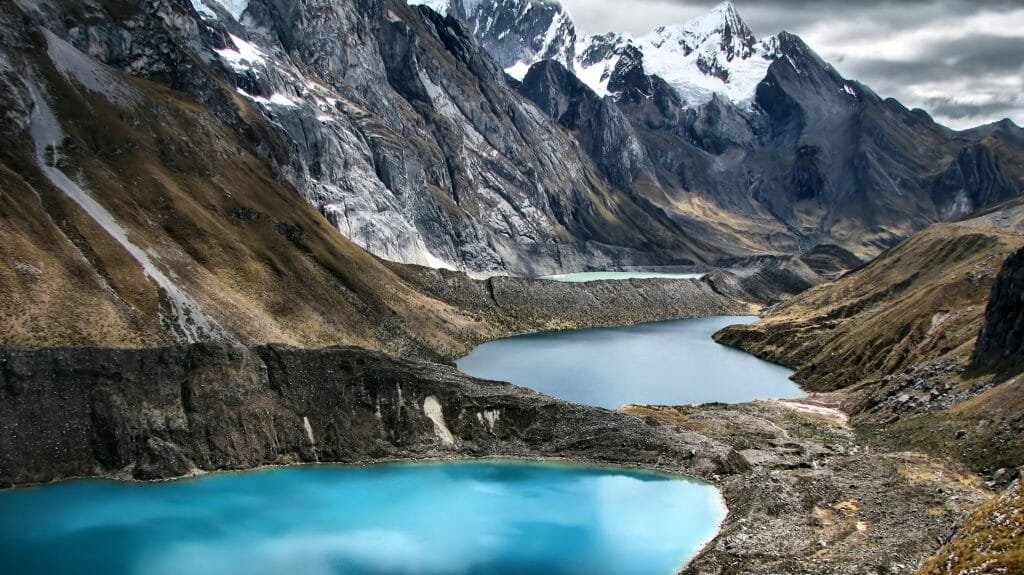 Three Lagoons at Huayhuash Trek, Peru