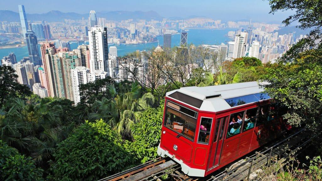 Tourist Tram, The Peak, Hong Kong, China