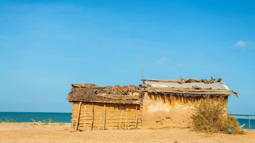 Typical Wayuu house, Guajira Peninsula, Colombia