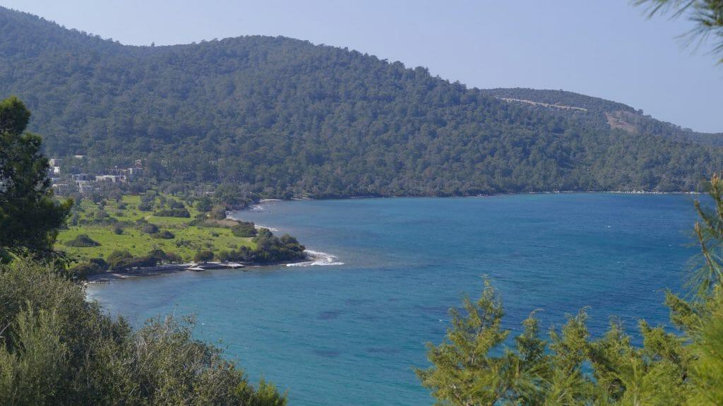 View Across Bay, Amanruya, Bodrum Peninsula, Turkey