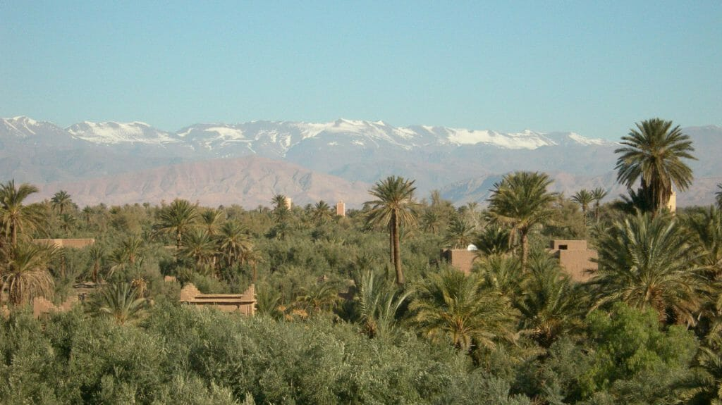 View from Hotel, Dar Ahlam, Skoura, Morocco