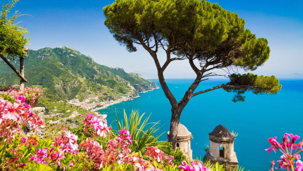 View from Ravello, Amalfi Coast, Italy