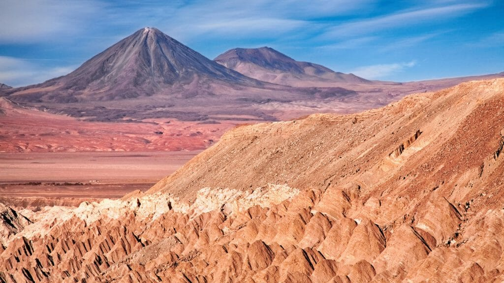 View from Valle De La Muerte, Atacama Desert, Chile