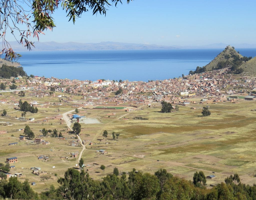 View of Copacabana, Lake Titicaca, Bolivia