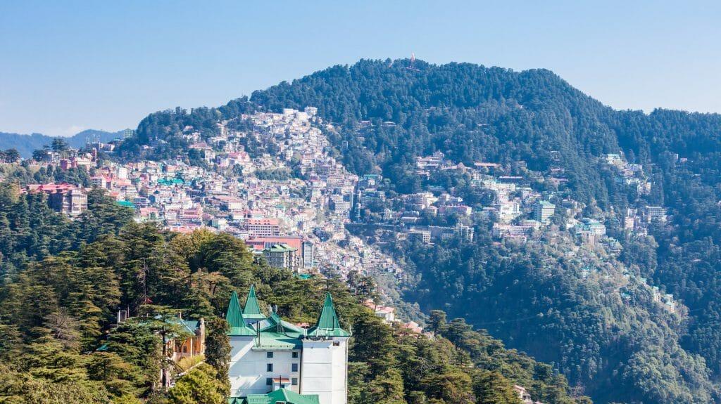 View of Shimla, Himalayas, India