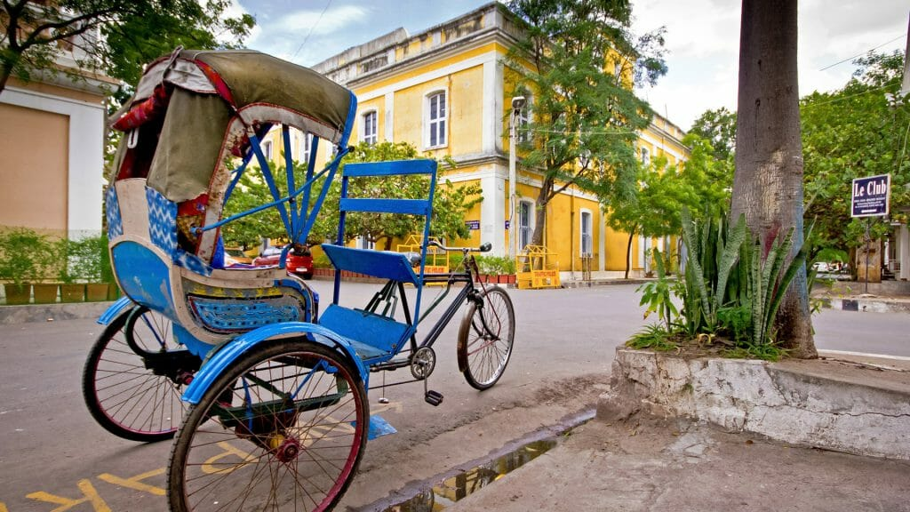 Vintage Tricycle Rickshaw, Pondicherry, India