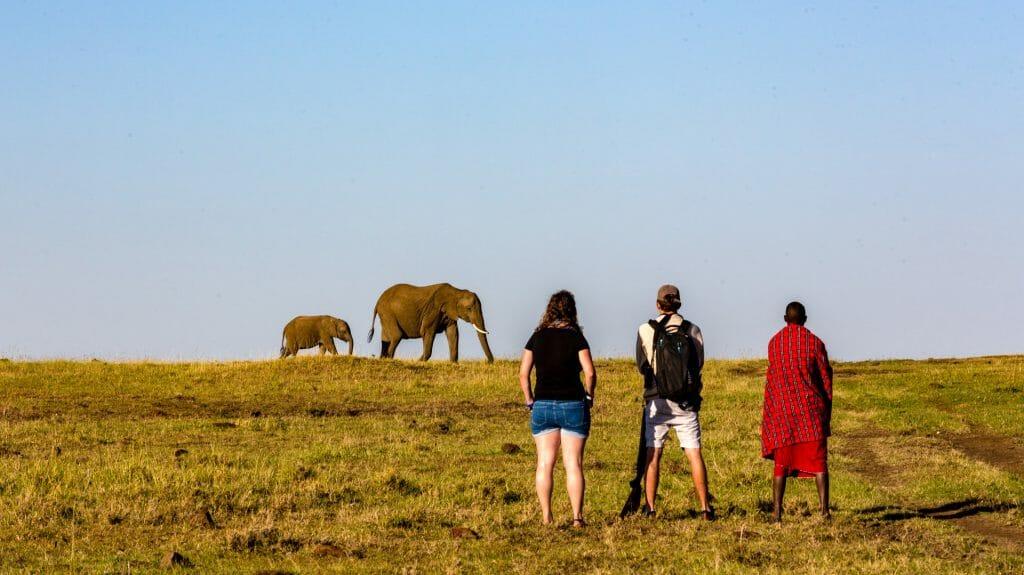 Walking, Offbeat Mara Camp, Masai Mara