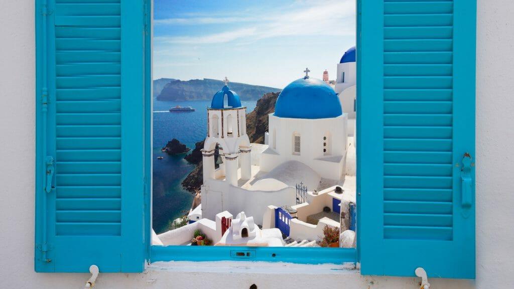 Window View, Santorini, Greece