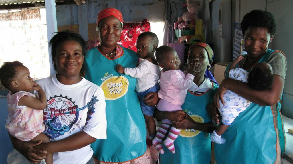 Women and babies, uThando, Cape Town, South Africa