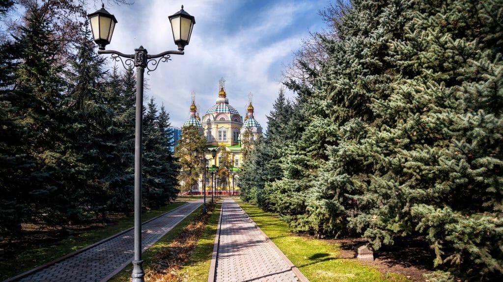 Zenkov Cathedral in Panfilov Park, Almaty, Kazakhstan