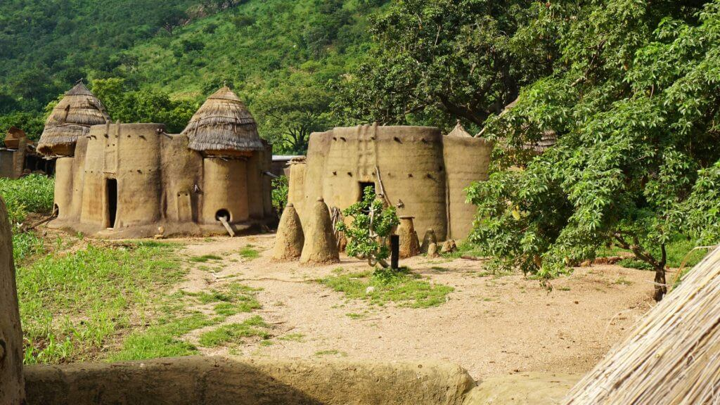 Landscape of Tamberma in togo is part of the UNESCO World Heritage, Togo