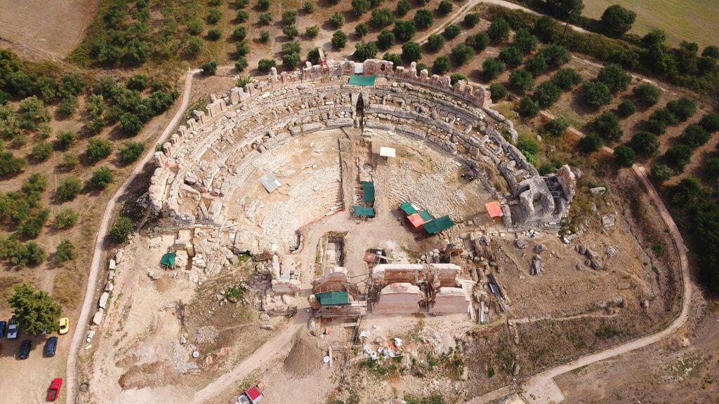 Aerial drone photo of Nikopolis, Preveza, Epirus, Greece