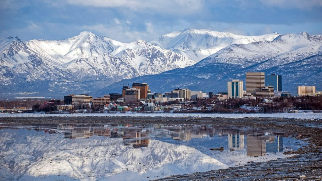 View of Anchorage, Alaska, USA