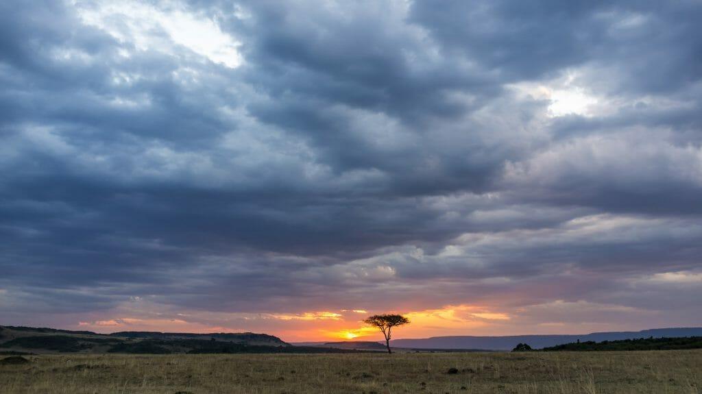 Beautiful sunset, Masai Mara, Kenya