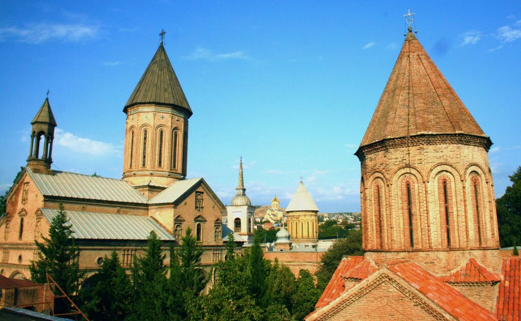 Copy Churches of Tbilisi Jvris Mama Sioni and Sameba Cathedral Old Town Georgia