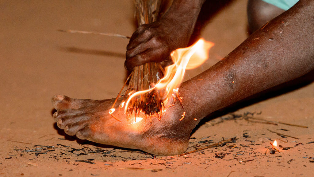 Fire dance, Togo
