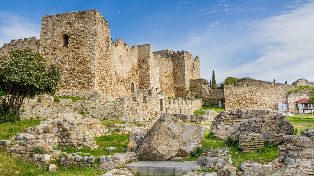 Old historic castle of Patras in Achaea on Peloponnese, Greece