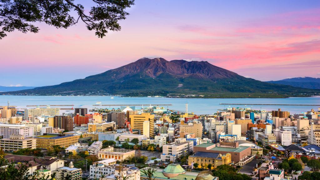 Kagoshima skyline, Japan