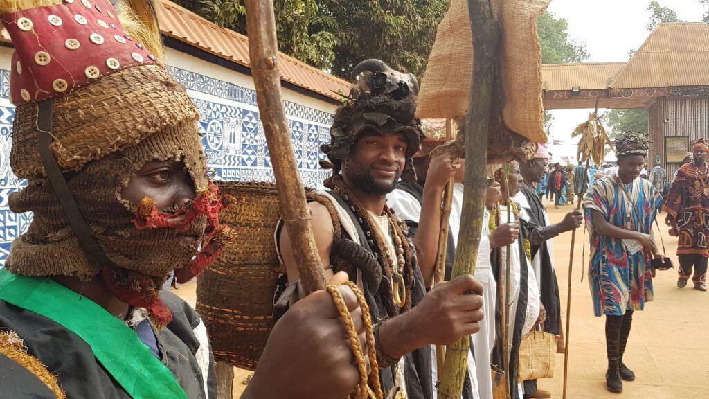 Parade during Nguon, Foumban, Cameroon
