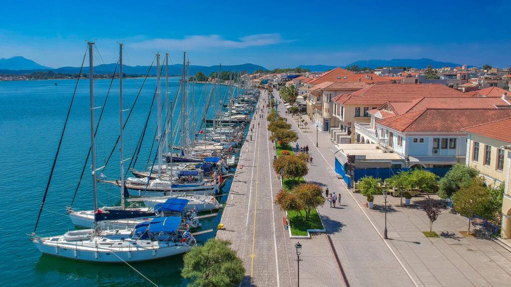 Preveza city port and boats, Preveza, Greece