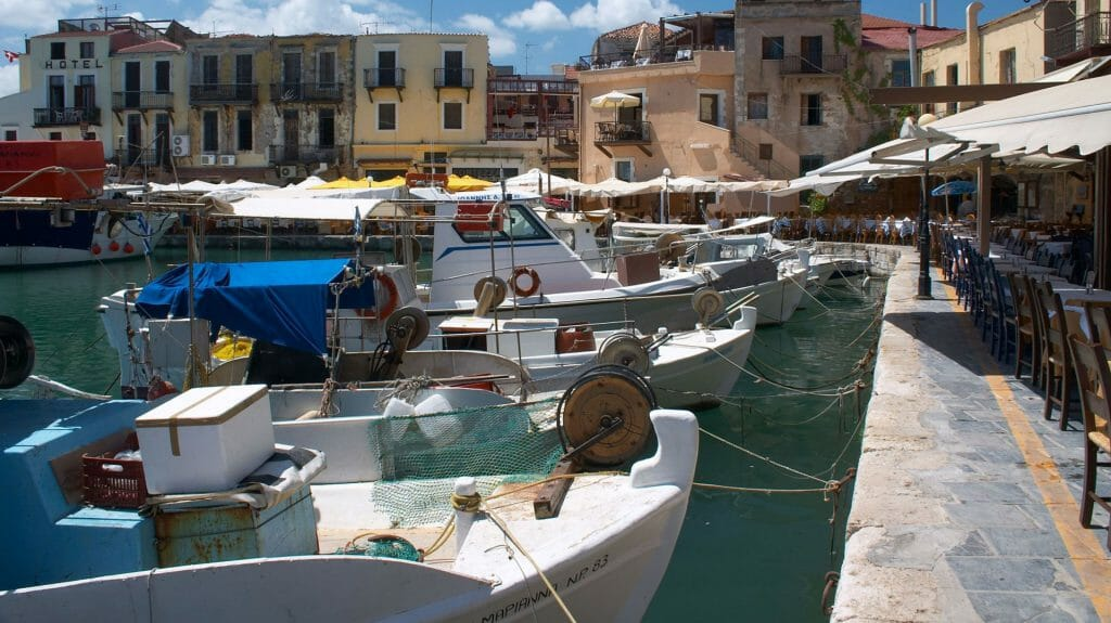 Rethymnon Harbour, Rethymnon, Crete, Greece