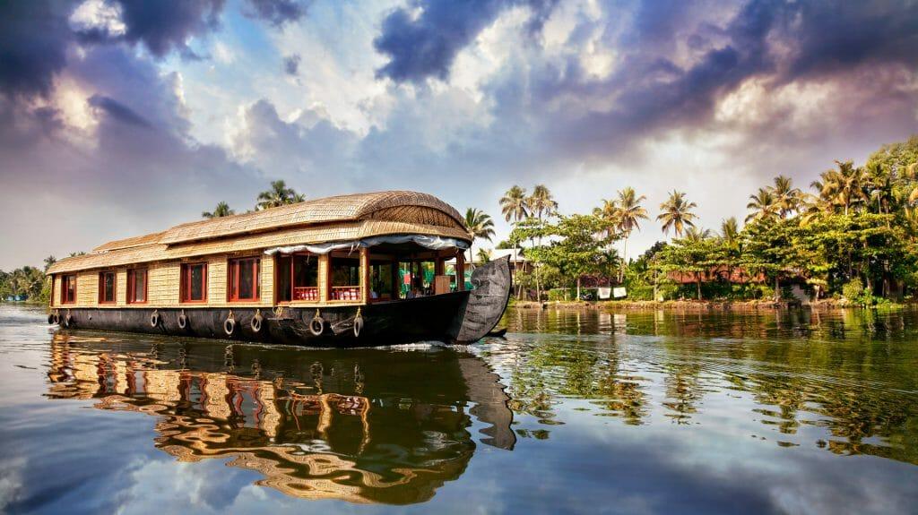 Rice Barge, Kerala, India