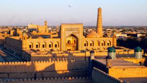 Khiva Town at Sunset, Khiva, Uzbekistan