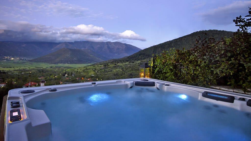 Villa Vager hydro pool, Levidi, Peloponnese, Greece