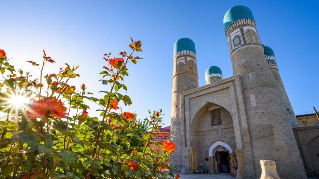 Chor Minor Mosque, Bukhara, Uzbekistan